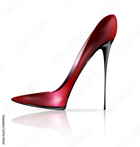 red black shoe - 76899963