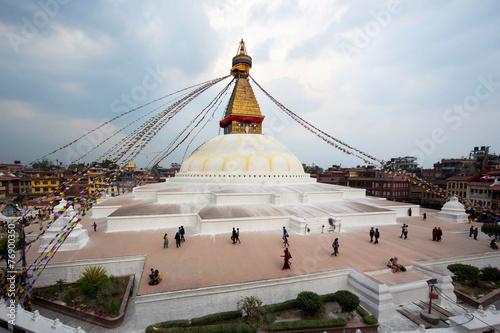 Fotobehang Nepal Boudhanath Stupa, Kathmandu, Nepal