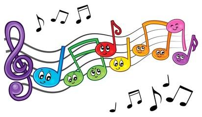 Cartoon music notes theme image 2