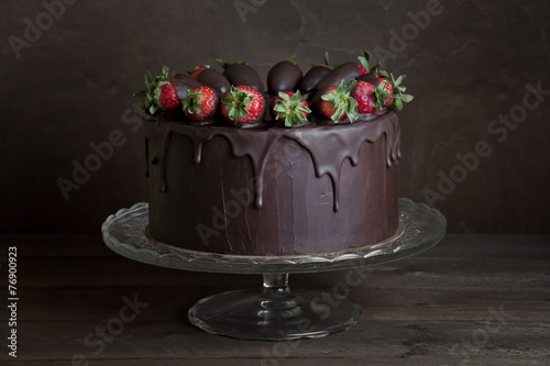 Fotobehang Dessert chocolate cake
