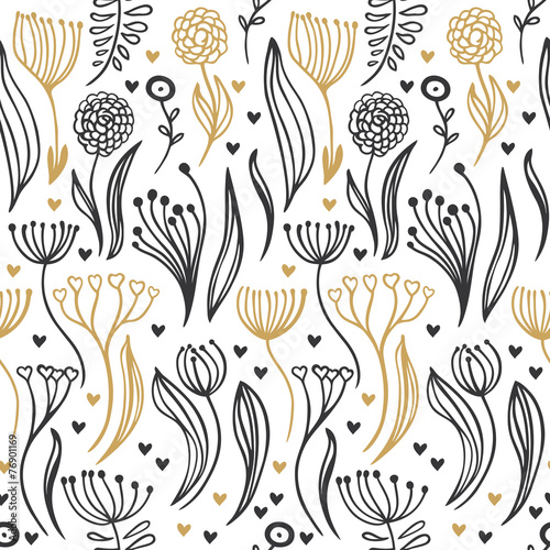 romantic seamless pattern © Anastasia Albrecht