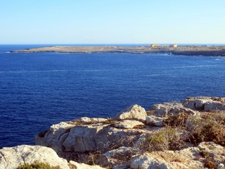 sea of the LAMPEDUSA island in Italy