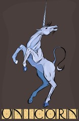 Sketch of unicorn with title
