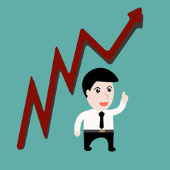 Businessman up trends Stock Growth