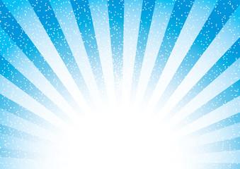 Illustration of a Bright Blue Burst Of Sunshine With White Light