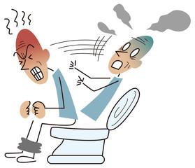 トイレで気張って卒倒する高齢者