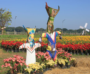 Robot Ghost Dance is a symbol of Sakon Nakhon and fields of mari