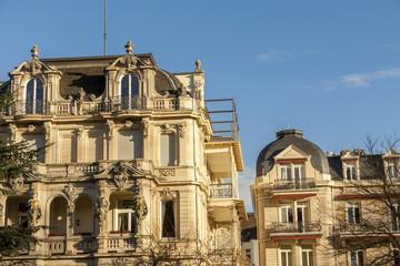 Exterior of building historical landmark housing