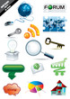 Internet Web icon set vector illustration