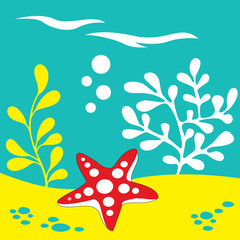 starfish under the sea