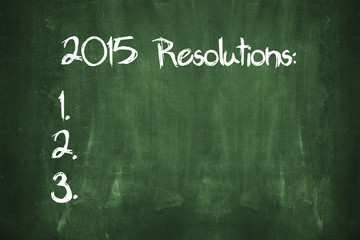 New Year Resolutions for 2015 Concept