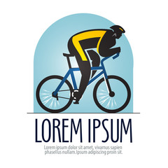 bicycle racing vector logo design template. sports or bike icon