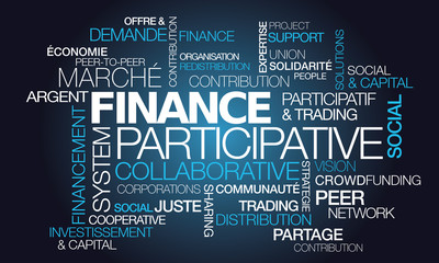 Finance participative collaborative crowdfunding tag cloud