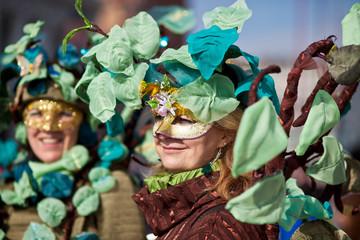 Carnevale di Venezia. Persone mascherate