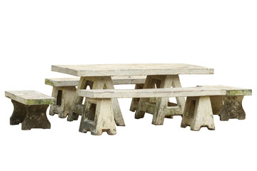 Garden table and chair set (with clipping path) isolated