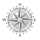 Vector Compass Rose poster