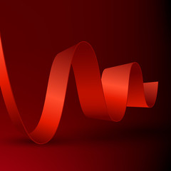 Abstract ribbon on dark background.
