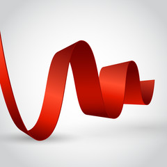 Abstract ribbon on white background.