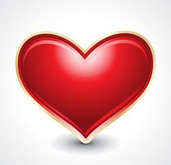 vector glossy heart shape illustration