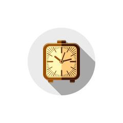 Wake up idea illustration. Classic three-dimensional alarm-clock