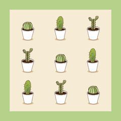 I love cacti seamless cactus illustration