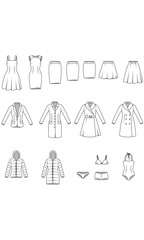 Women's clothes, Garment Illustration
