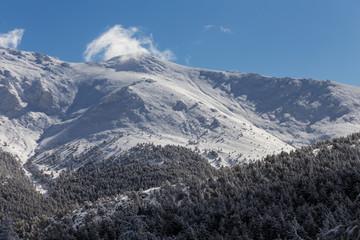 Paisaje Nevado en la Sierra de Madrid