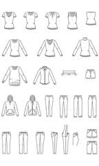 Women's clothes, Garment Illustration