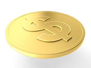 Gold dollar coin