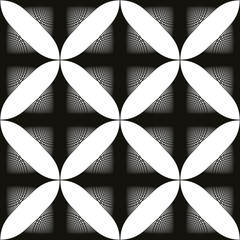 Black and white abstract vintage seamless background, monochrome