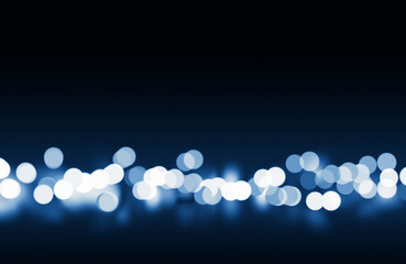 blue tone bokeh lights