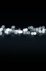 bokeh lights on black