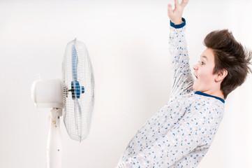 boy near the ventilator