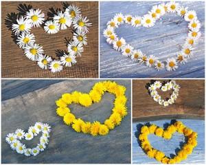 Blütenherz-Collage
