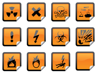 Orange Hazardous Stickers