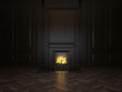 fireplace in the room - 76911946