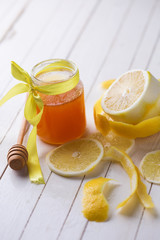 Fresh honey and lemons