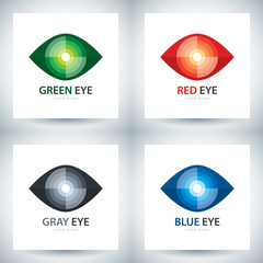 Cyber eye icon set