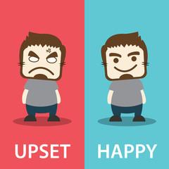 Upset And Happy