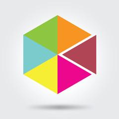 rainbow symbol logo icon vector