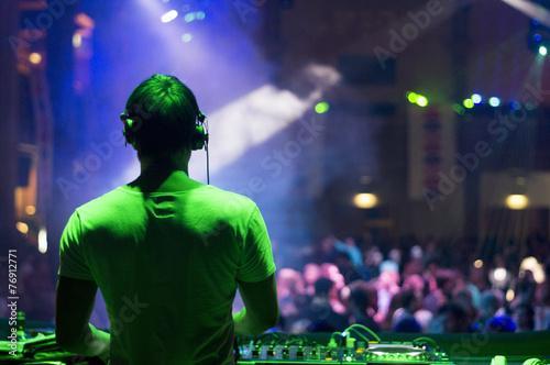 Leinwanddruck Bild DJ