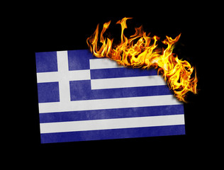 Flag burning - Greece