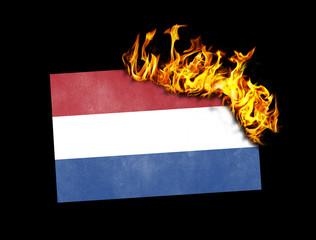 Flag burning - Netherlands