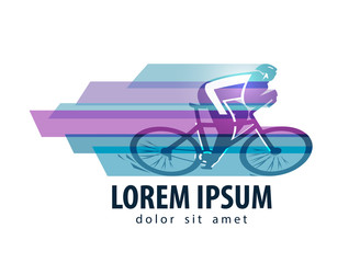 cycling vector logo design template. sports or bike icon.