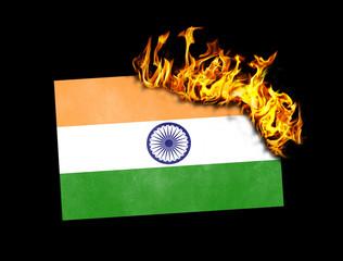 Flag burning - India