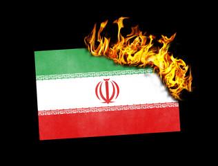 Flag burning - Iran