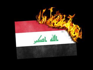 Flag burning - Iraq