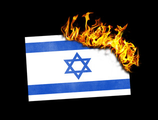 Flag burning - Israel