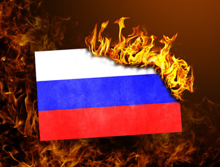 Flag burning - Russia