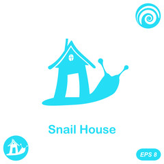 Snail with house - home sale concept
